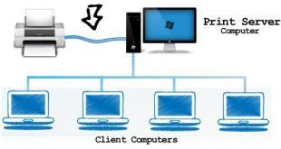 Cara print dalam satu jaringan