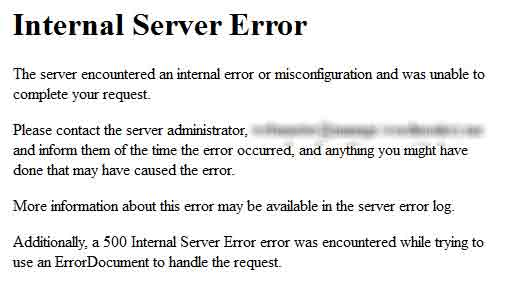 Error Pada WordPress