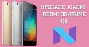 Upgrade Xiaomi Redmi 3s Prime ke Nougat 7.1.1