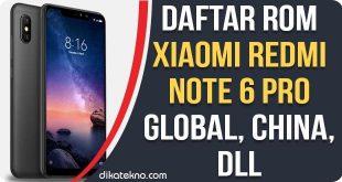ROM Xiaomi Redmi Note 6 Pro